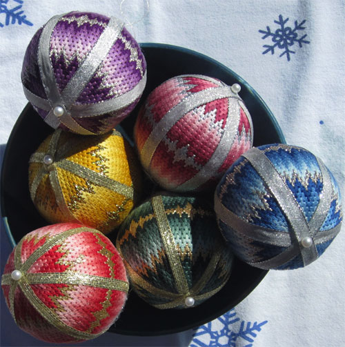 """Bargello Balls"""